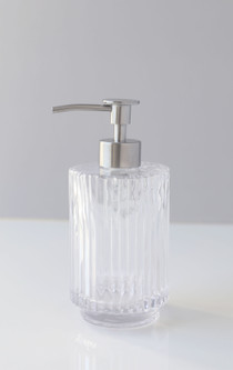 Parisian Clear Fluted Glass Soap Dispenser