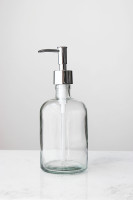 Large Clear Recycled Glass Soap Dispenser