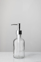 Small Clear Recycled Glass Soap Dispenser