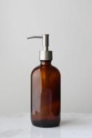 Market Amber Glass Soap Dispenser