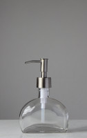 Half Moon Glass Soap Dispenser
