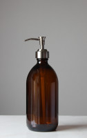 Savon Amber Glass Soap Dispenser
