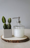 Hobnail Glass Soap Dispenser