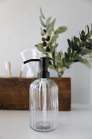 Fluted Glass Nouveau Soap Dispenser