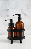 Foaming Soap + Non-Foaming Soap Dispenser Set with Black Caddy
