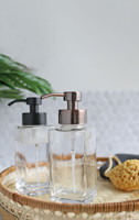 Modern Square Glass Foaming Soap Dispenser - Copper