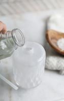 Astraea Frosty Glass Soap Dispenser