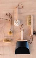 Natural Wood Bristle Kitchen Dish Brush