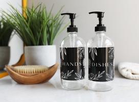 Black Label Basics Clear Glass Kitchen Dispenser Set