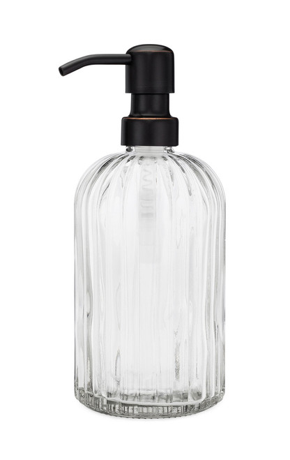Fluted Glass Nouveau Soap Dispenser