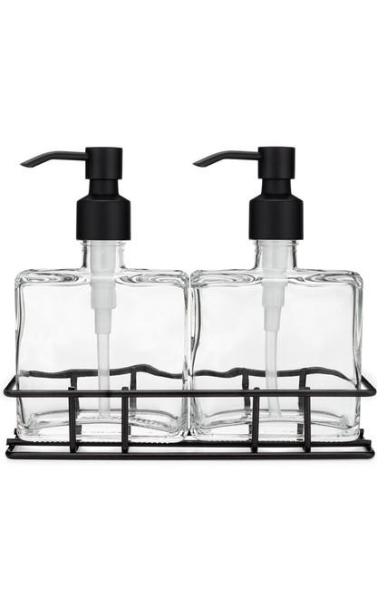 Soap Dispenser Sets Perfect Pair Glass Clear Soap Dispenser Set
