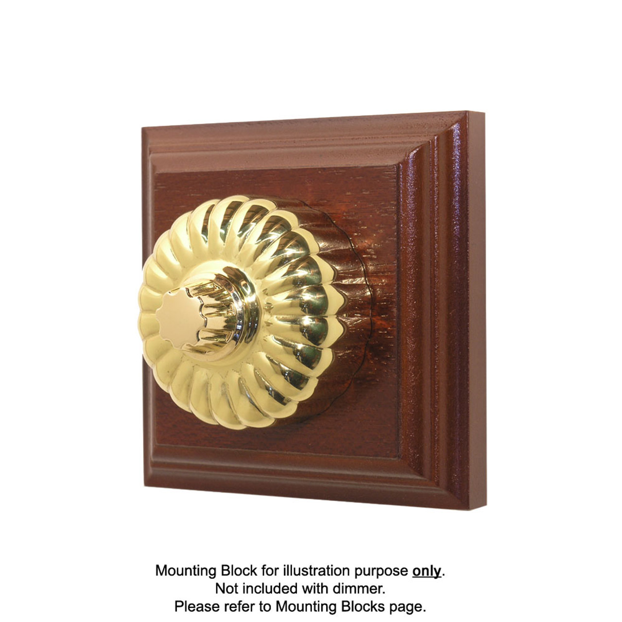 Heritage Clipsal Classic Universal Dimmer Fluted - Brass