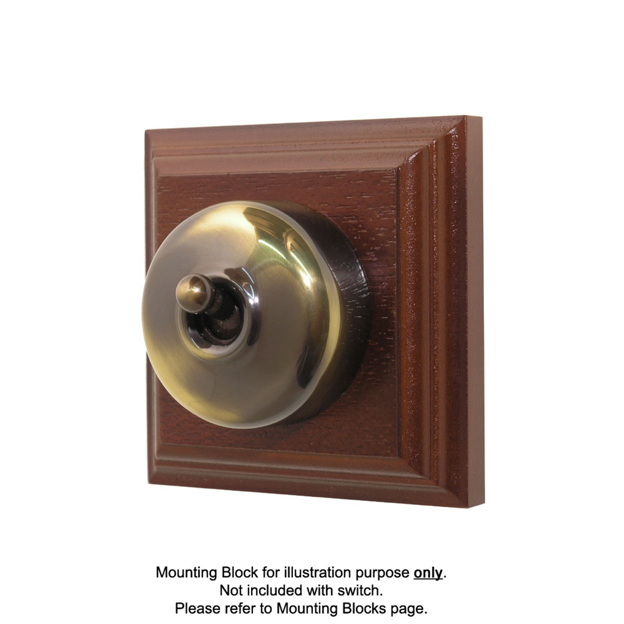 Old Heritage Clipsal Classic Switch Smooth Covered - Antique Brass