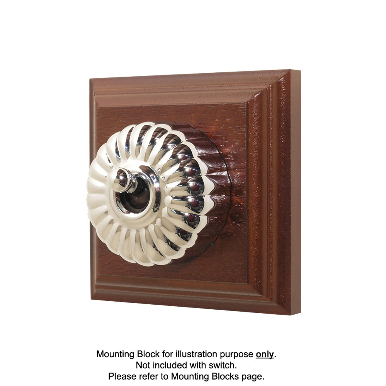 Heritage Clipsal Classic Switch Fluted - Chrome