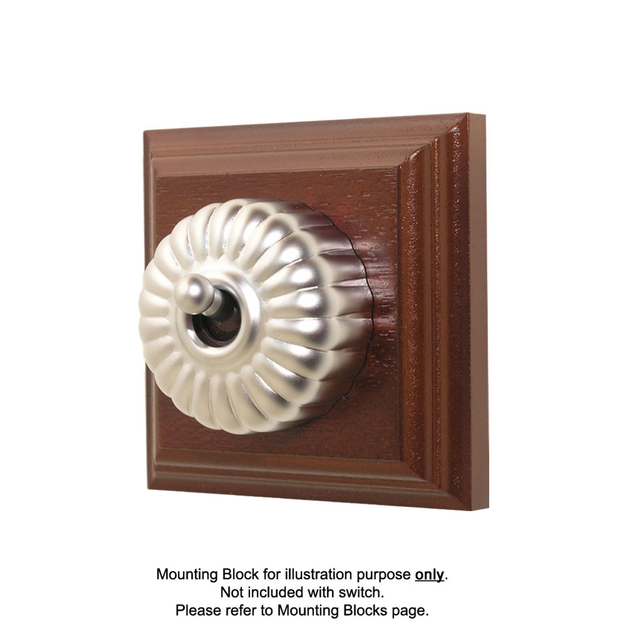 Heritage Clipsal Classic Switch Fluted - Satin Chrome