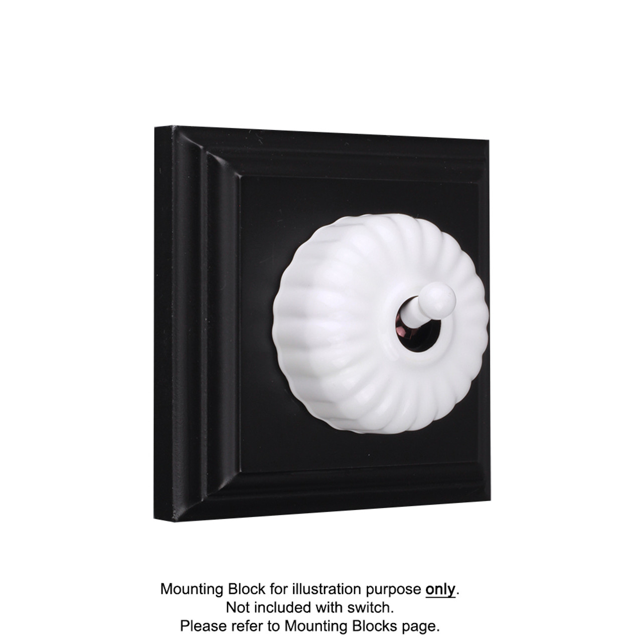 White Clipsal Heritage Fluted Light Switches