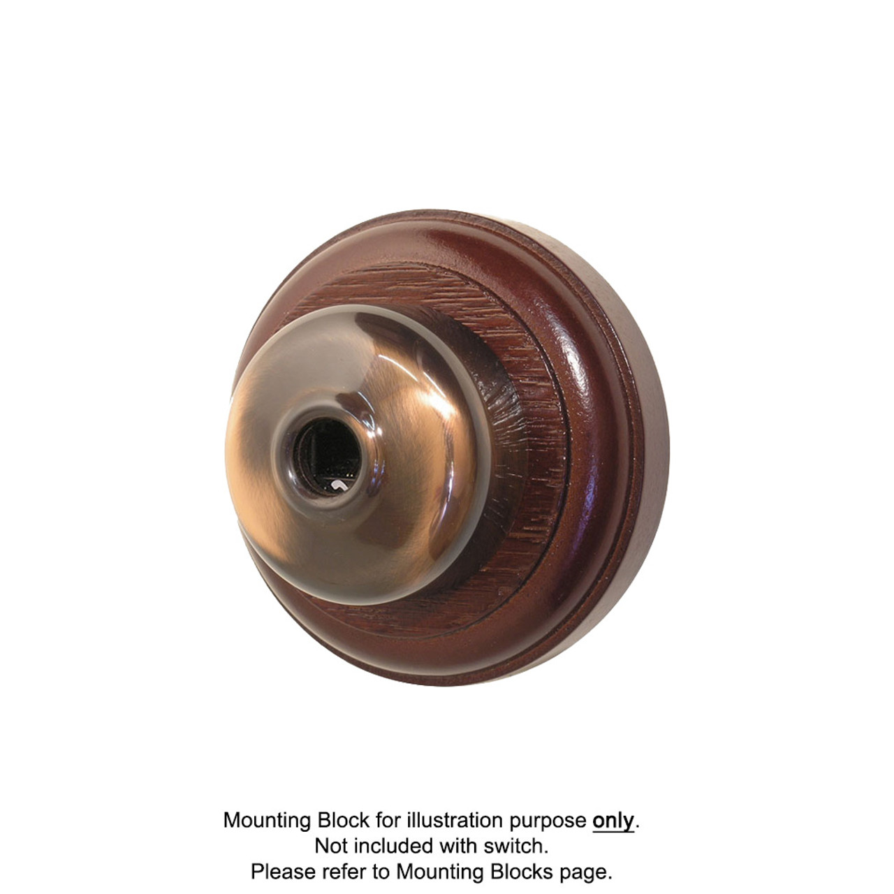 Old Heritage Clipsal Classic Telephone Socket Smooth Covered - Florentine Bronze