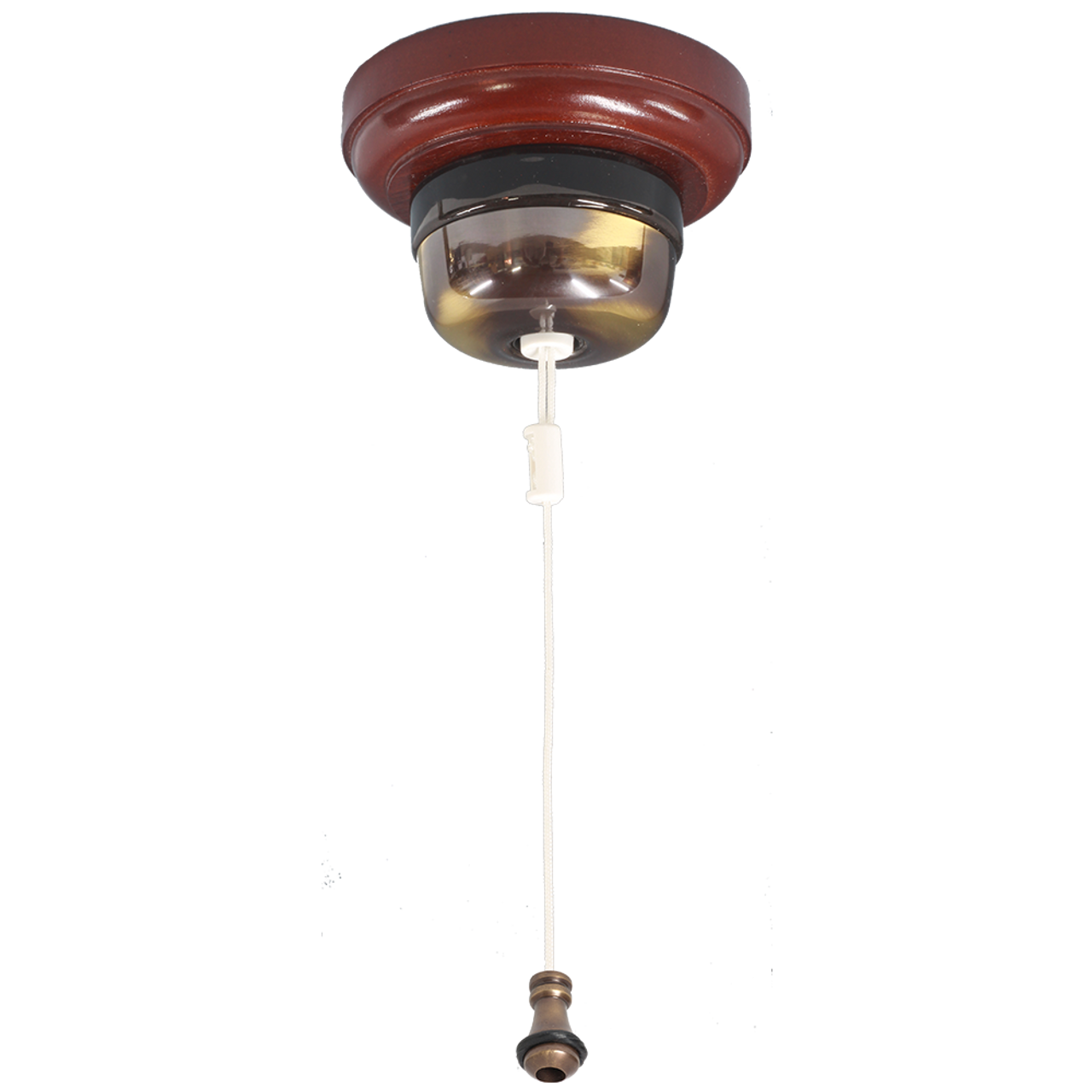 Ceiling Pull Switch Antique Brass