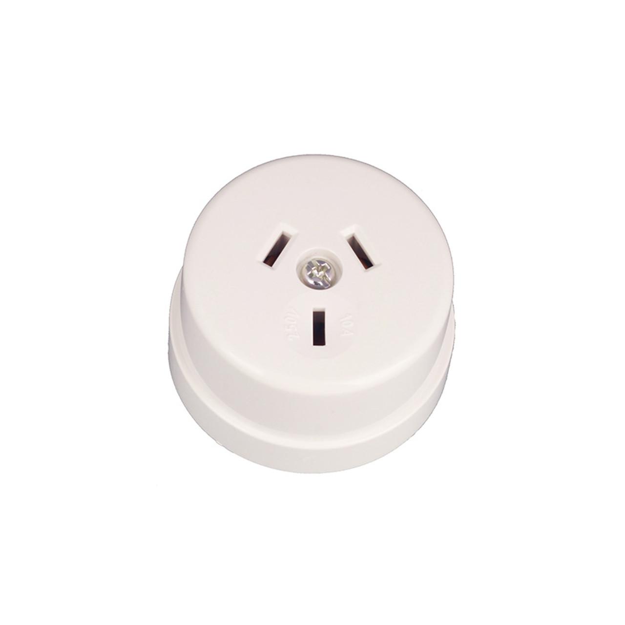 White Bakelite Power Socket