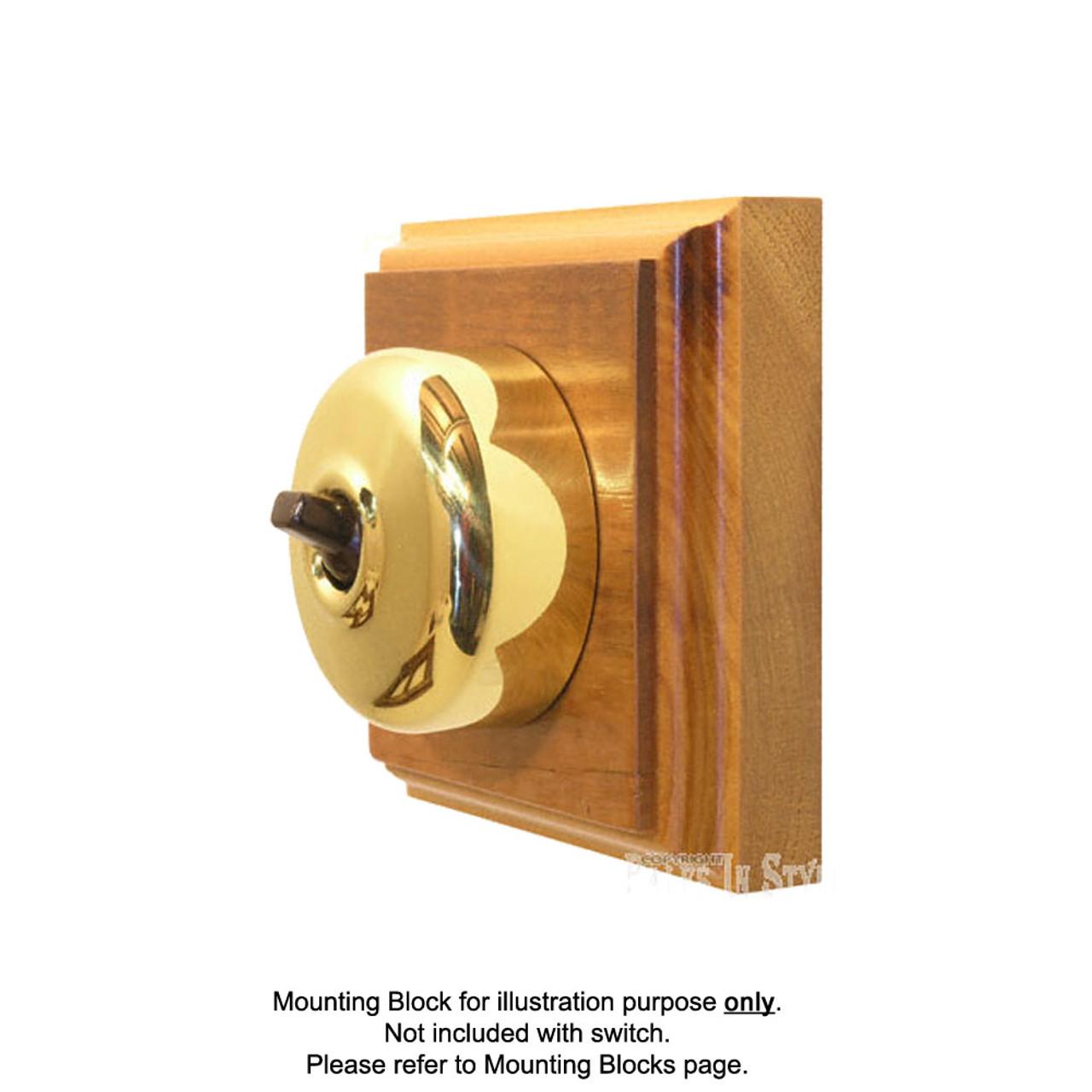 Brass Covered Bakelite Switch 55/2PB