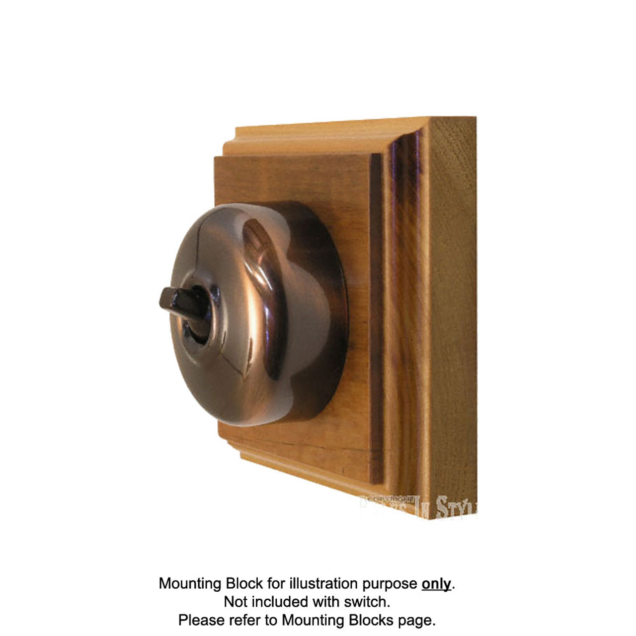 Florentine Bronze Covered Bakelite Switch 55/2FBB