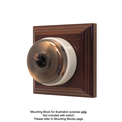 Genuine Clipsal Classic Switch With White Porcelain Base - Florentine Bronze