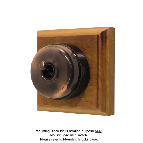 Genuine Clipsal Classic Switch With Black Poreclain Base - Florentine Bronze
