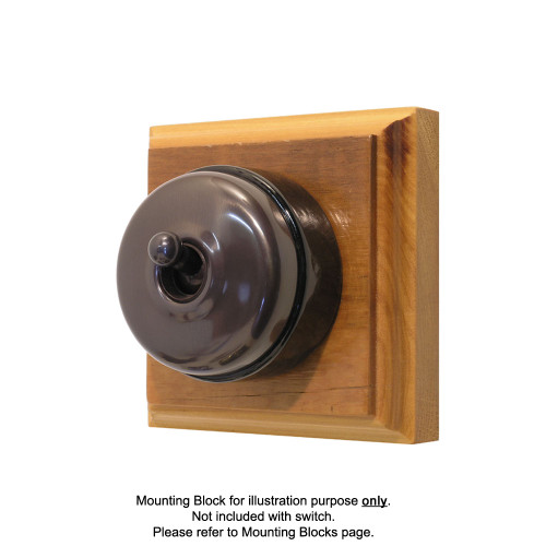Genuine Clipsal Classic Switch With Black Porcelain Base - Non-Relieved Bronze