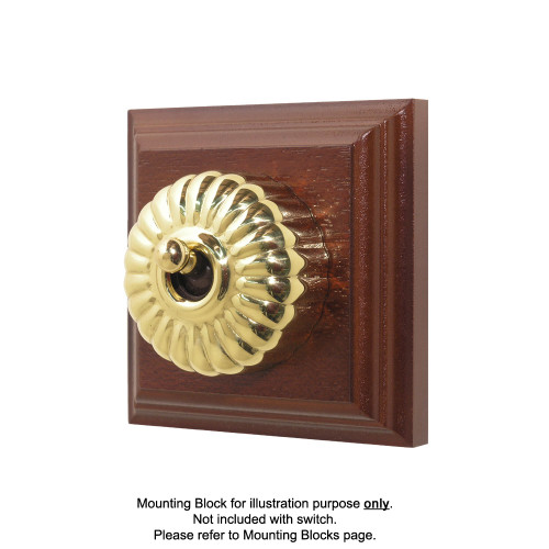 Heritage Clipsal Classic Switch Fluted - Brass