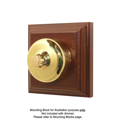 Clipsal Heritage Three Speed Fan Controller - with Polished Brass Cover