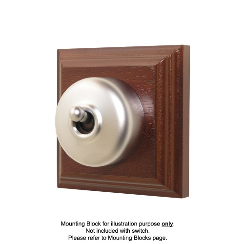 Old Heritage Clipsal Classic Switch Smooth Covered - Satin Chrome