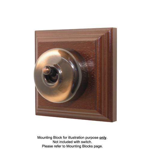 Old Heritage Clipsal Classic Switch Smooth Covered - Florentine Bronze
