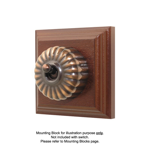 Heritage Clipsal Classic Switch Fluted - Florentine Bronze