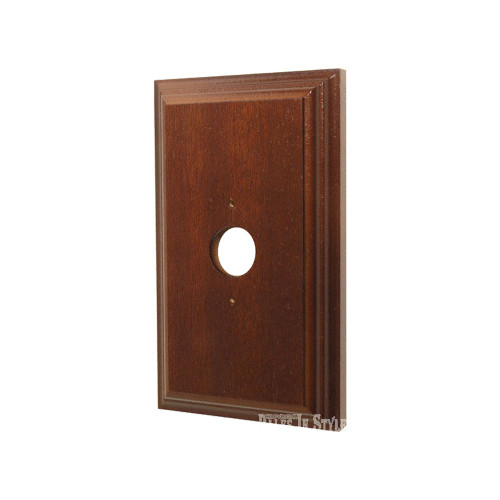 Classic Cedar Stained Mounting Block - 1 Gang Oblong