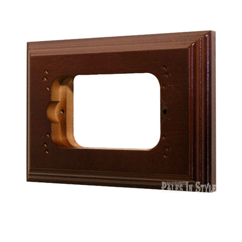 Classic Cedar Stained Mounting Block - Oblong To Suit Standard Switch or GPO