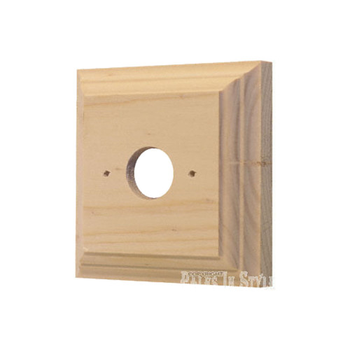 Classic Plain Pine Mounting Block - 1 Gang Square