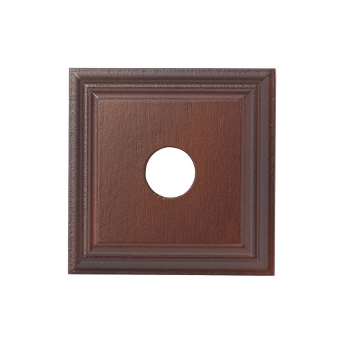 Cedar Mounting Block - 1 Gang Square -Traditional Profile