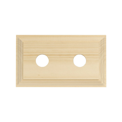 Pine Mounting Block - 2 Gang Oblong -Traditional Profile