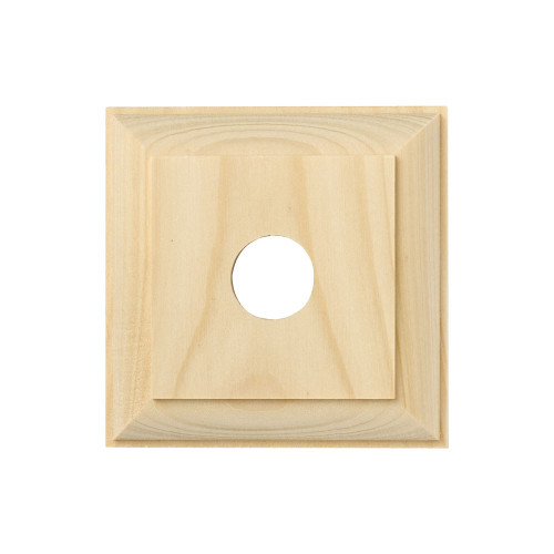 Pine Mounting Block - 1 Gang Square - Bullnose Profile