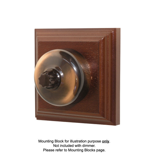 Old Heritage Clipsal Classic Universal Dimmer Smooth Covered - Florentine Bronze