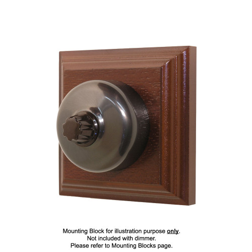 Clipsal Heritage Three Speed Fan Controller - with Non-Relieved Bronze Cover