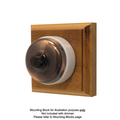 Classic Clipsal Three Speed Fan Controller With White Ceramic Base - Florentine Bronze