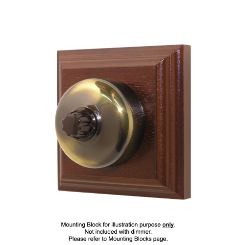 Old Heritage Clipsal Classic Universal Dimmer Smooth Covered - Antique Brass