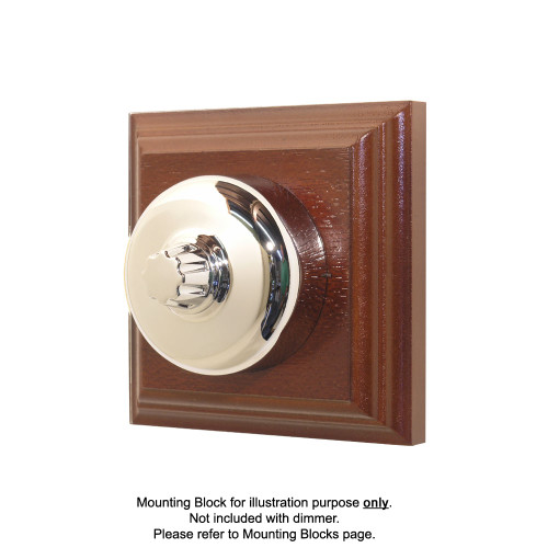 Old Heritage Clipsal Classic Universal Dimmer Smooth Covered - Chrome