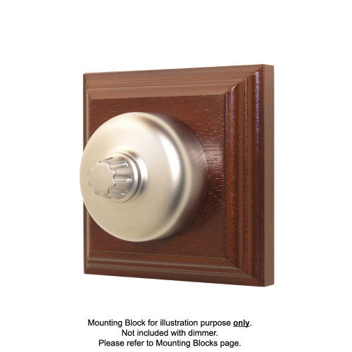 Old Heritage Clipsal Classic Universal Dimmer Smooth Covered - Satin Chrome