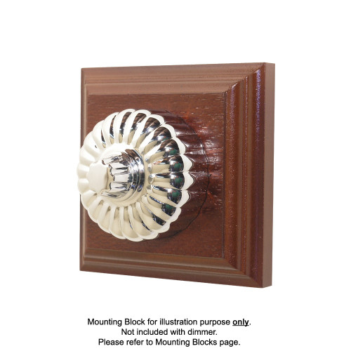 Heritage Clipsal Classic Ribbed Universal Dimmer Fluted - Chrome