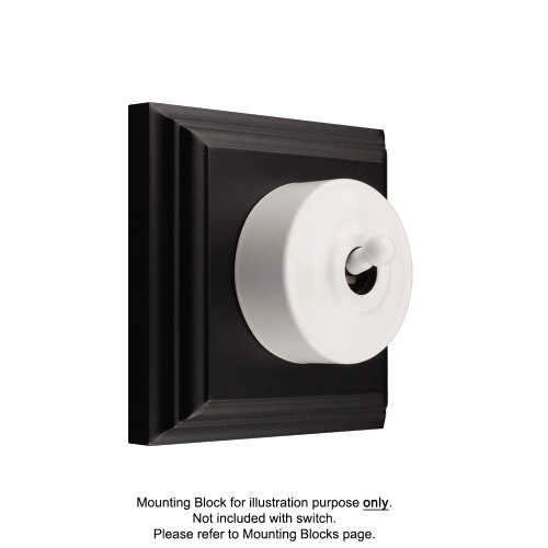 White Federation Round Light Switch