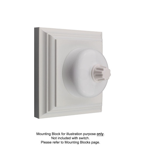 White Clipsal Heritage Round Dimmers