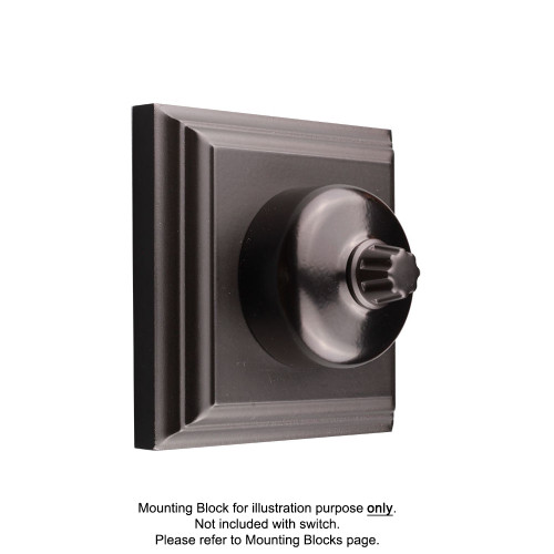 Black Clipsal Heritage Round Dimmers