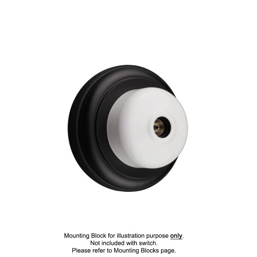 White Clipsal Heritage Round TV Aerial Sockets